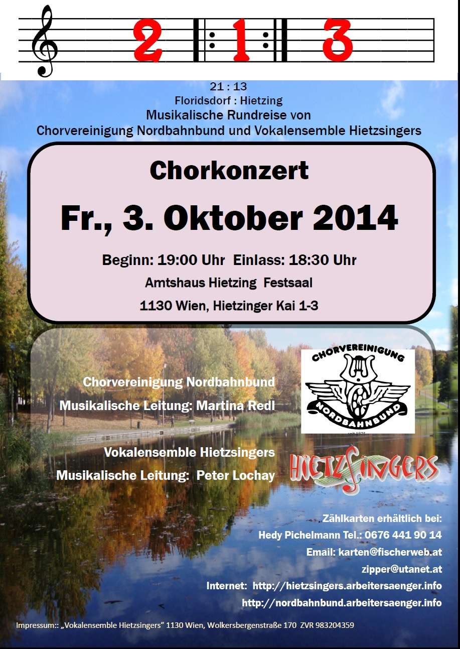 Konzerteinladung Nordbahnbund